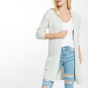 Express Open Cardigan Sweater with Hood
